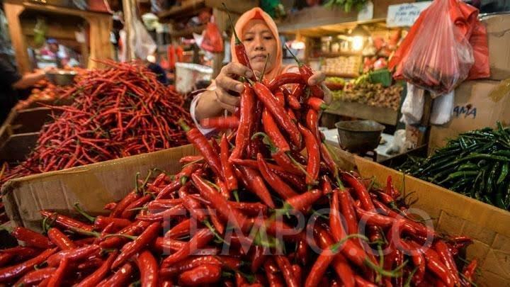 Hari ini Harga Cabe Merah di Pekanbaru Melonjak Rp8 ribu per kilogram